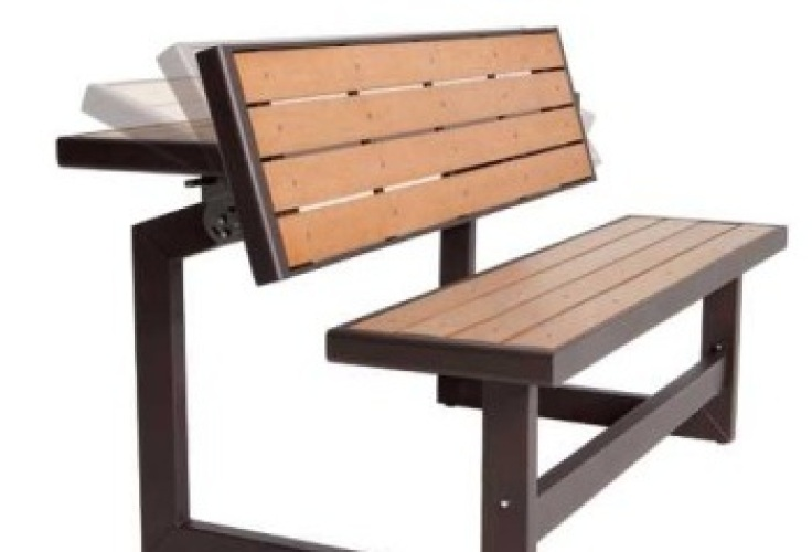 picnic table converts to bench, patio furniture, park bench