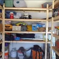 Simple, Inexpensive Storage Shelving